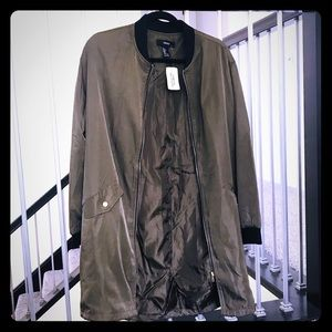 New Forever 21 military olive green jacket large
